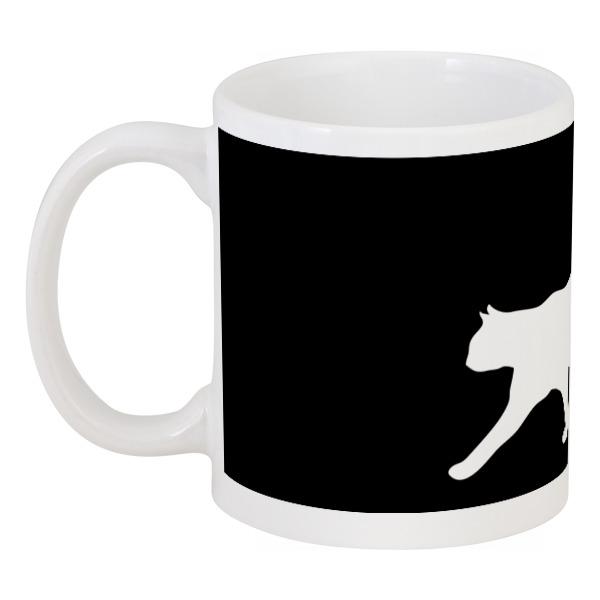 Кружка Printio Силуэт белой кошки. кружка printio силуэт белой кошки