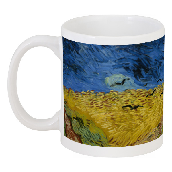 Кружка Printio Пшеничное поле с воронами (ван гог)