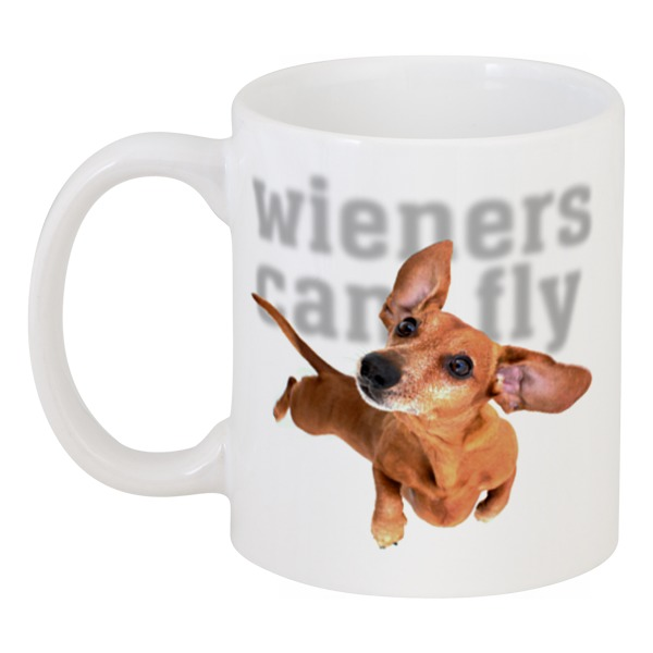 Кружка Printio Wieners can fly