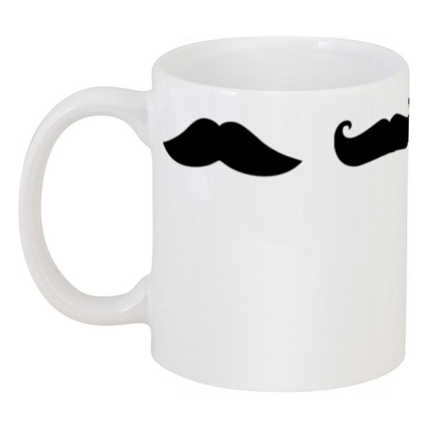 Кружка Printio Mustache vintage style mustache puppy pattern square shape pillowcase