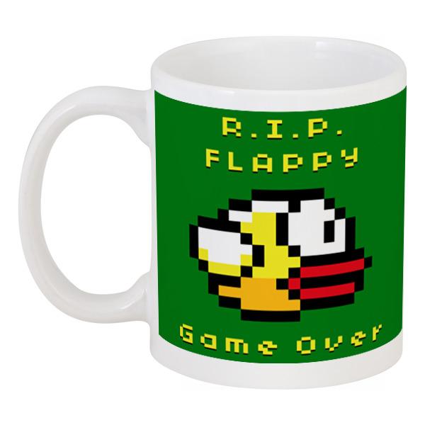 Кружка Printio Flappy bird stylish black bird pattern square shape flax pillowcase without pillow inner