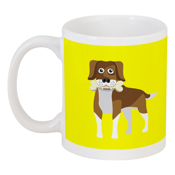Кружка Printio Пёс с косточкой кружка printio пёс с косточкой