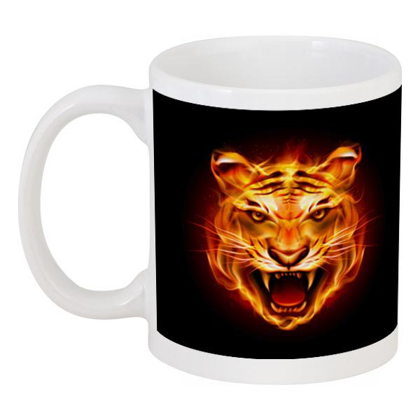 Кружка Printio Огненный тигр. украшение настенное в виде головы обезьяны rudyard