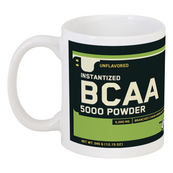 Кружка Printio Optimum nutrition bcaa bcaa 6400