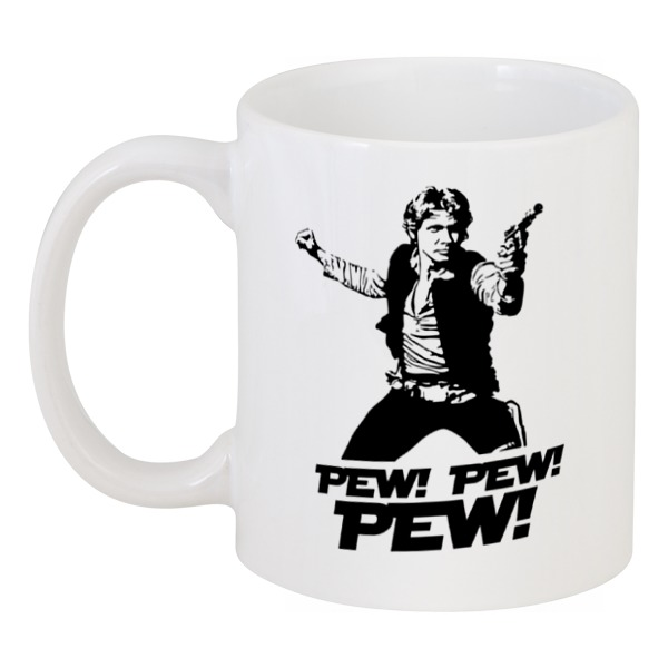 Кружка Printio Pew! pew! pew! хан соло лонгслив printio pew pew pew хан соло