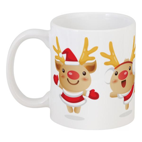 Кружка Printio Рождественские олени цена