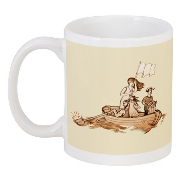Кружка Printio Семейная лодка! резиновая лодка недорого юао