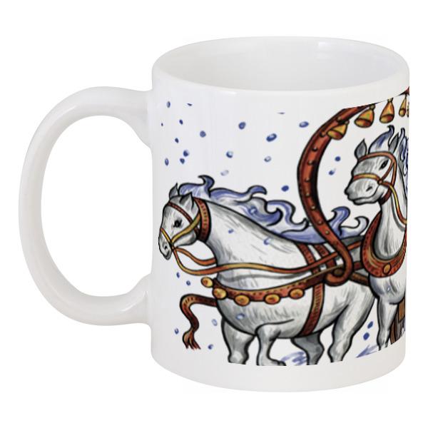 Printio Дед мороз и тройка лошадей