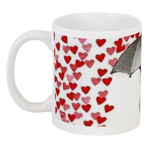"Кружка ""NotLove"" - кот, сердца, grumpy cat, hearts, сердитый котик"