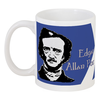 """Кружка """"Эдгар По, «Ворон» (Edgar Poe, The Raven)"""" - edgar allan poe, эдгар аллан по, ворон, nevermore, юмор"""