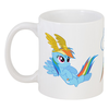 "Кружка ""Кружка Rainbow Dash "" - rainbow dash, my little pony, cutiemark"
