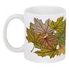 """Кружка """"кленовые листья мехенди"""" - листья, осень, деревья, природа, мехенди"""