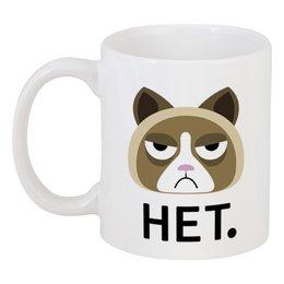 """Кружка """"Мой ответ - нет."""" - кошка, подарок, оригинальный, прикольный, качественный"""