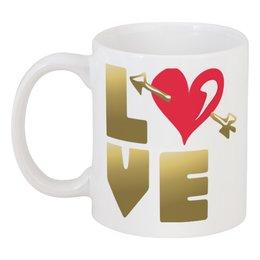 """Кружка """"День Св. Валентина"""" - день св валентина, валентинка, сердце, купидон"""