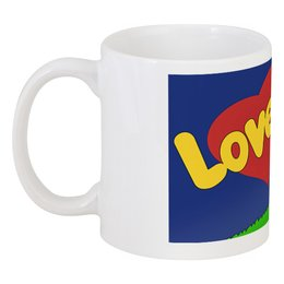 "Кружка ""Love is..."" - сердце, любовь, love is, 14 февраля, влюбленные"