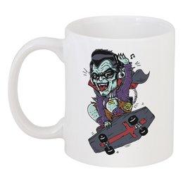 "Кружка ""Дракула на Скейте"" - skate, dracula"