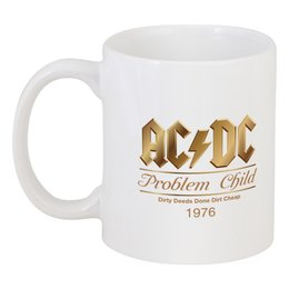 """Кружка """"AC/DC"""" - music, rock, золото, хард-рок, асдс"""