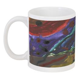 """Кружка """"Drawing watercolor / рисунок акварель"""" - космос, абстракция, планеты, wikel"""