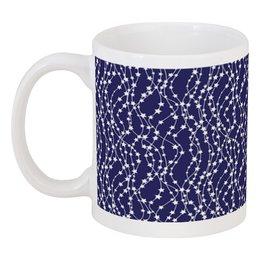 """Кружка """"Звёзды"""" - новый год, рисунок, звёзды, гирлянды"""