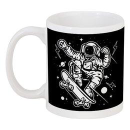 """Кружка """"Космонавт на скейте"""" - space, skate"""
