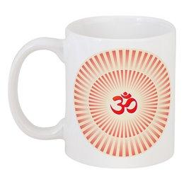 """Кружка """"Сияющий Om (Aum)"""" - орнамент, ом, индия, индуизм, мантра"""