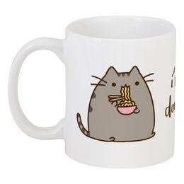 """Кружка """"Я очень голоден"""" - еда, котик, для коллеги, для офиса, я очень голоден"""