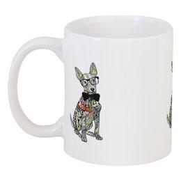"""Кружка """"Символ года собака"""" - животные, зима, красный, собака, новыйгод"""