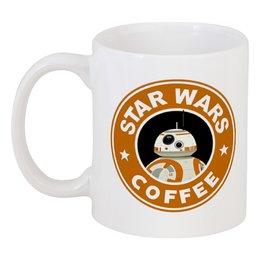 """Кружка """"Star Wars coffee"""" - starbucks, звёздные войны, пробуждение силы, bb-8 droid"""