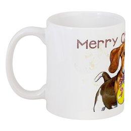 """Кружка """"Рождественский биглик"""" - новый год, собака, рождество, бигль"""