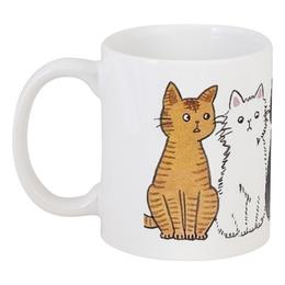 """Кружка """"Котики"""" - животные, котики, коты, кошки"""