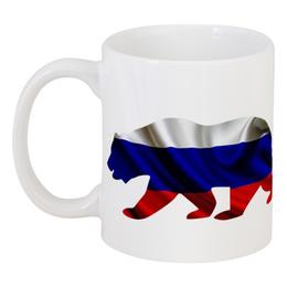 """Кружка """"Русский Медведь"""" - bear, медведь, русский, флаг, russian"""