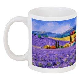 """Кружка """"""""Бесконечность лаванды"""""""" - любовь, арт, цветы, в подарок, девушке, франция, креативно, лаванда, лавандовые поля, прованс"""