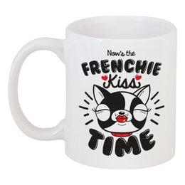 """Кружка """"Французский бульдог"""" - собака, сердечки, бульдог, 2018, год собаки"""