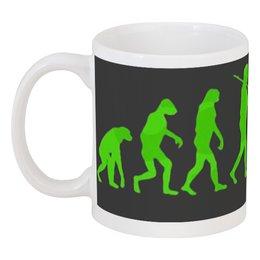 "Кружка ""Zombie Art"" - evolution, zombie, эволюция, зомби, арт дизайн"