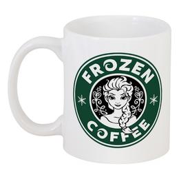 """Кружка """"Frozen coffee"""" - кофе, coffee, starbucks, frozen, холодное сердце"""