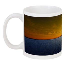 """Кружка """"яхта в море"""" - море, красота, природа, закат, лодка"""