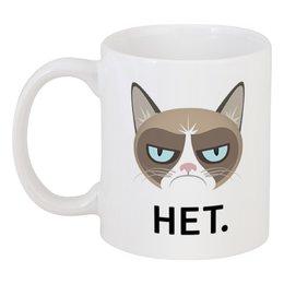 """Кружка """"Мой ответ - нет."""" - кот, подарок, оригинальный, прикольный, качественный"""