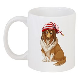 """Кружка """"Колли"""" - собака, колли, пёс, 2018, год собаки"""