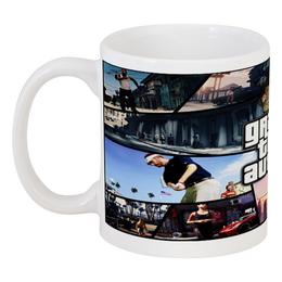 "Кружка ""Grand Theft Auto V"" - grand theft auto, гта, gta5, gta v, gta online"