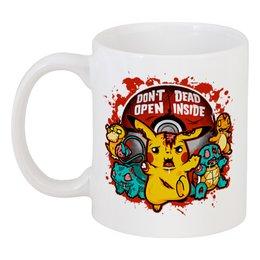 """Кружка """"Покемон (Pokemon)"""" - zombie, зомби, пикачу, pikachu, покебол"""