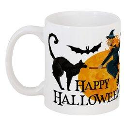 """Кружка """"Хэллоуин"""" - кошка, ведьма, хэллоуин"""