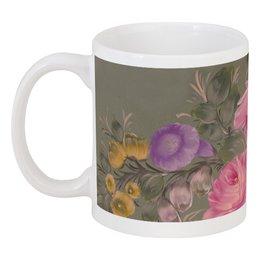 """Кружка """"Нежные цветы"""" - цветы, сиреневый, розовый, подарок, пастельный, цветочный принт, цветочный орнамент"""