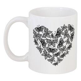 """Кружка """"Сердце из бабочек"""" - сердце, бабочки, любовь, день влюблённых, любить"""