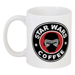 """Кружка """"Star Wars coffee"""" - star wars, starbucks, пробуждение силы, кайло, новый порядок"""