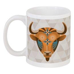 "Кружка ""Телец"" - гороскоп, телец, знак зодиака, taurus, бык"