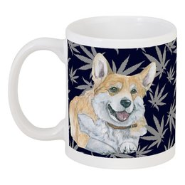 "Кружка ""Моя любимая собака"" - зима, осень, собака, рыжий, корги"