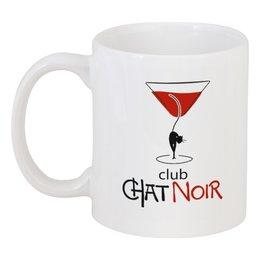 """Кружка """"CHAT NOIR. Чёрный кот"""" - club, клуб, чёрный кот, chat noir"""