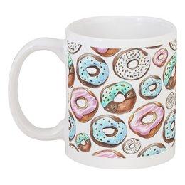 """Кружка """"пончики"""" - еда, кофе, пончики, сладкий, кафе"""