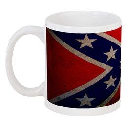 """Кружка """"Флаг Конфедерации США"""" - война, америка, флаг, сша, флаг конфедерации"""