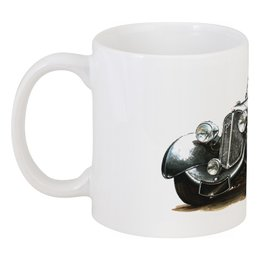 "Кружка ""Ретроавтомобили 7"" - ретро, рисунок, автомобили"